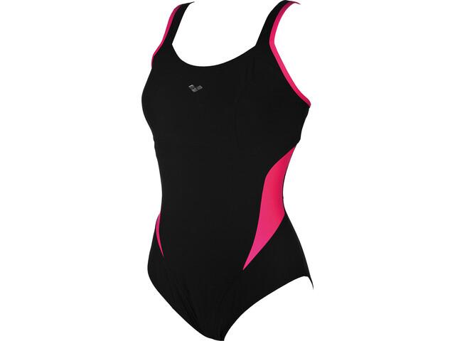 arena Makimurax One Piece Swimsuit Low C Cup Women, black-rose violet